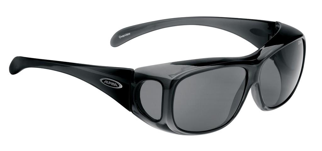 Sonnenbrille Alpina Overview Rahmen schwarz Glas schwarz - Bikerleben